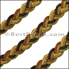 10mm flat SUEDE BRAID leather DESERT - 1 meter