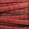 10mm flat VINTAGE leather RED - per 20M spool