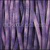 5mm flat VINTAGE leather PURPLE - per 5 meters
