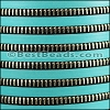 10mm flat ZIPPER leather TURQUOISE- per 1 meter