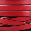 10mm flat leather RED - per 20m SPOOL