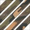 10mm flat CAMO SUEDE leather ARMY GREEN - per 1 meter