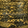 5mm flat PYTHON leather YELLOW - meter