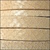 10mm flat EGYPTIAN STYLE leather BEIGE - per 20m SPOOL