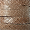 10mm flat EGYPTIAN STYLE leather TAUPE - per 2 meters