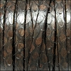 5mm flat PYTHON leather DARK BROWN - per 1 meter