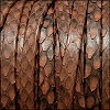 5mm flat PYTHON leather BROWN - per 10m SPOOL