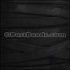 10mm flat GOAT SUEDE leather BLACK - per 2 meters