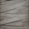 10mm flat GOAT SUEDE leather WARM GREY - per 2 meters