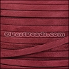 5mm flat GOAT SUEDE leather BURGUNDY - per 5 meters