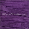 10mm flat GOAT SUEDE leather PURPLE - per 2 meters