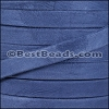 10mm flat GOAT SUEDE leather DENIM - per 2 meters