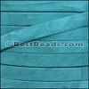 10mm flat GOAT SUEDE leather TURQUOISE - per 2 meters