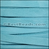 10mm flat GOAT SUEDE leather LIGHT BLUE - per 2 meters