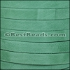 10mm flat GOAT SUEDE leather JADE - per 20m SPOOL