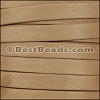 10mm flat GOAT SUEDE leather TAUPE - per 2 meters