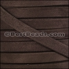 10mm flat GOAT SUEDE leather BROWN - per 2 meters