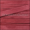 10mm flat GOAT SUEDE leather BURGUNDY - per 2 meters