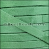 10mm flat GOAT SUEDE leather FERN GREEN - per 2 meters