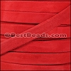 10mm flat GOAT SUEDE leather RED - per 2 meters