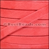 10mm flat GOAT SUEDE leather CORAL - per 2 meters