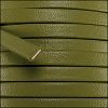 5mm flat PREMIER leather OLIVE GREEN - per 5 meters