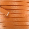 5mm flat PREMIER leather ORANGE - per 5 meters