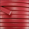 5mm flat PREMIER leather RED - per 5 meters