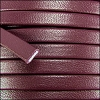 5mm flat PREMIER leather BURGUNDY - per 5 meters