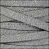 10mm flat SEED BEAD leather GREY - per 1 meter