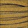 10mm flat SEED BEAD leather MUSTARD - per 1 meter