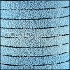 10mm flat SEED BEAD leather LIGHT BLUE - per 1 meter