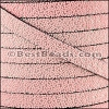 10mm flat SEED BEAD leather LIGHT PINK - per 1 meter