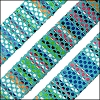 10mm flat AZTEC leather TURQUOISE - per 1 meter
