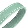 10mm flat WRAPPED STITCHED leather SEAFOAM - per 2 meters