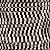 3mm flat STRIPED leather BLACK & WHITE - per 5 meters