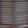 3mm flat STRIPED leather BLUE & BRONZE - per 5 meters