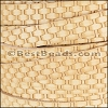 10mm flat BASKETWEAVE leather NATURAL- per meter