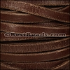 10mm Flat WEATHERED leather BROWN - per 2 meters