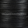 3mm Square LACING leather BLACK - per 1 meter