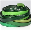 10mm Flat Leather Mixed Bundle FOREST - 5 meters