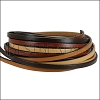 5mm Flat Leather Mixed Bundle NEUTRAL - 5 meters