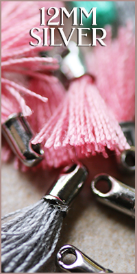 12mm Cotton Silver Tassels