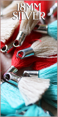 18mm Cotton Silver Tassels
