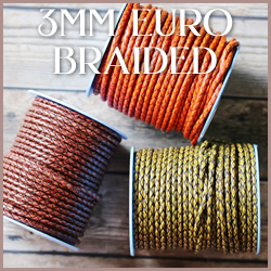 Braided Euro Leather 3mm