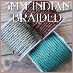 Braided Indian Leather WS 3mm
