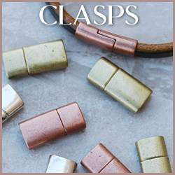 4.5mm Regaliz Clasps & Ends