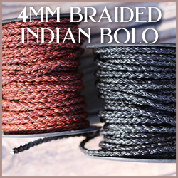 Braided Indian Bolo 4mm