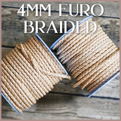 Braided Euro Leather 4mm