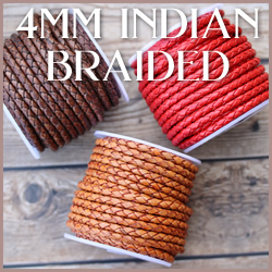Braided Indian Leather WS 4mm